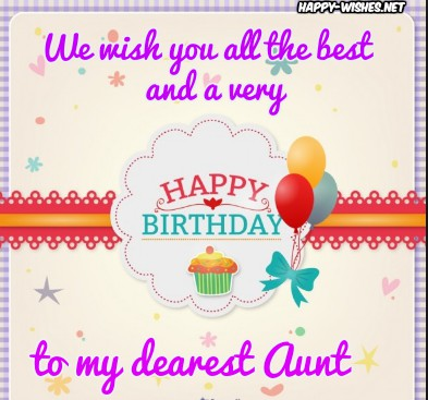 Graceful Birthday Card With Best Wishes For My Aunt