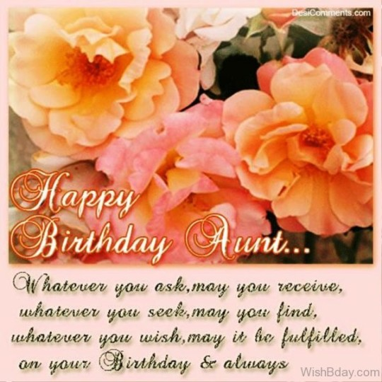 Graceful Birthday Wishes For My Lovable Aunt