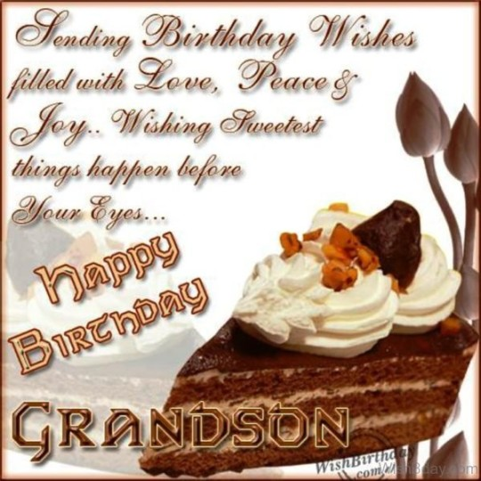 9s Graceful Birthday Wishes For My Grandson With Sweet Dish