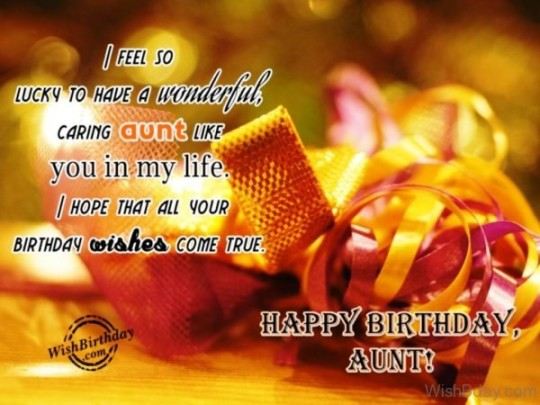 Great Birthday Wishes With Image For My Aunt