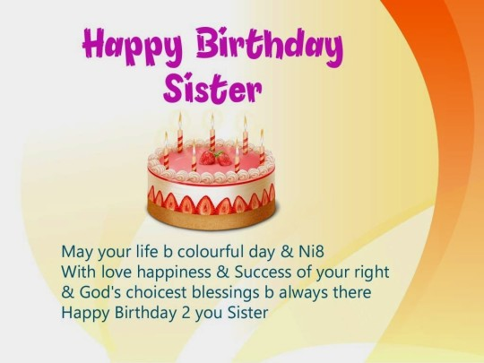 Happiest Birthday Wishes With Greetings For My Sister