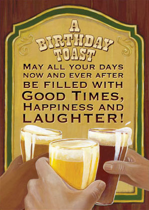 Happiness Birthday Toast For A Celebration Day