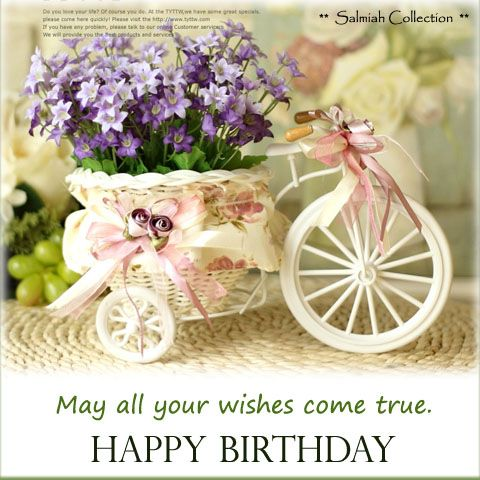 Heart Touching Birthday Greeting Card With Marvelous Flowers