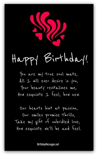Lovely Birthday Poem With Feelings Of Happiness