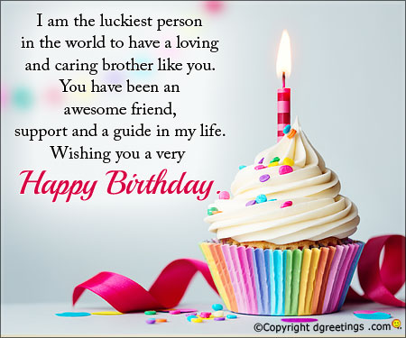 Lovely Birthday Wishes With Message For My Brother NiceWishes – Lovely Birthday Greetings