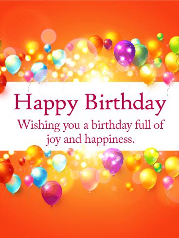 Magnificent Birthday E-Card With Full Of Joy And Happiness