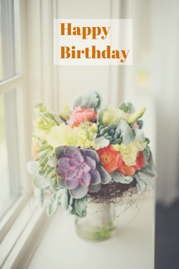 Marvelous Birthday E-Card With Flower Pot