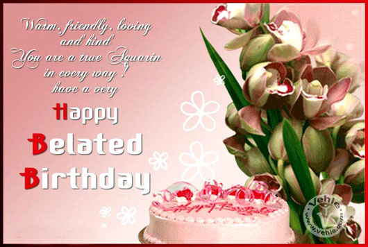 Happy Belated Birthday Wishes Spiritual ~ Belated birthday wishes ecards images : page 41