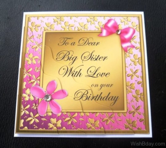 Radiant Birthday Wishes With Greeting Card For My Sister