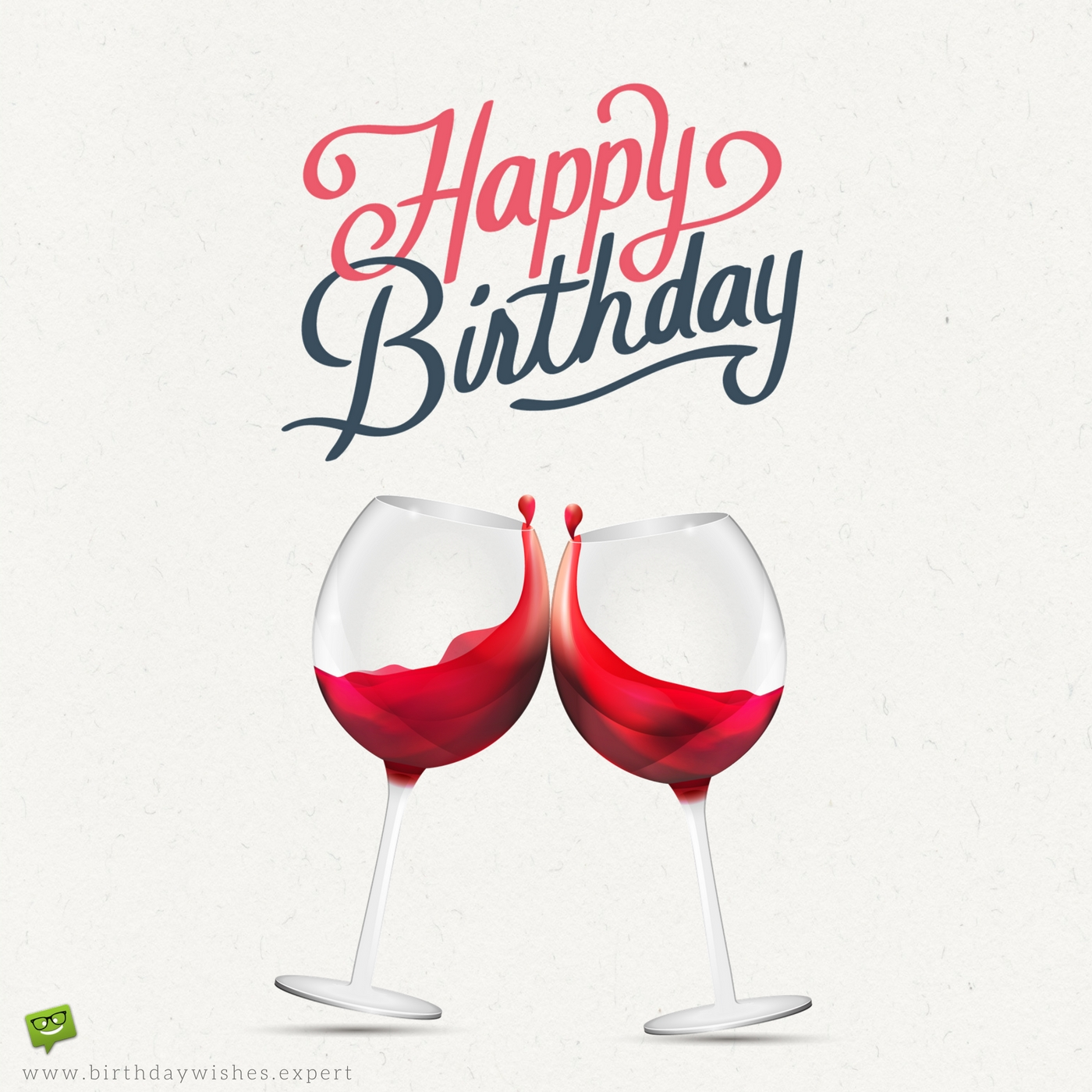 Red Wine Birthday Toast Card For A Joyful Day