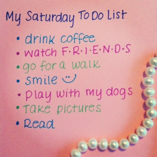 Saturday Good Morning Wishes With To Do List