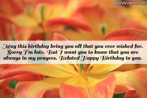 Belated birthday wishes ecards images page