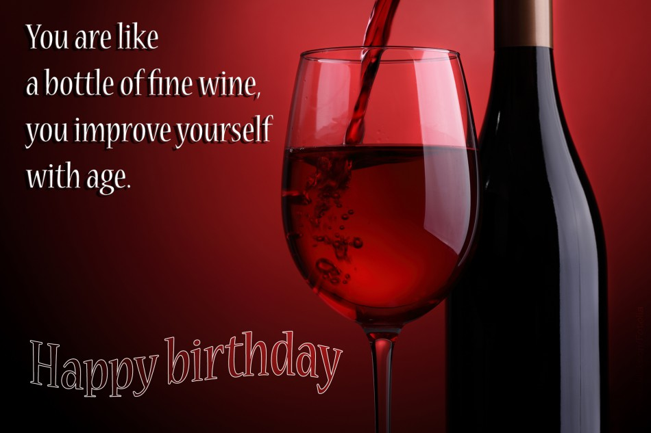 Sublime birthday toast with a bottle of red wine nicewishes sublime birthday toast with wine m4hsunfo
