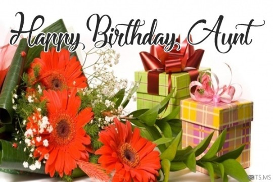Surprising Birthday Wishes With Gifts For Aunt