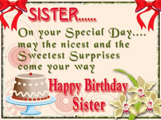 Unique Birthday Wishes With Greetings For My Lovely Sister
