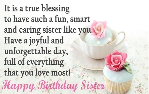Wondrous Birthday Wishes With Quotes For My Sister NiceWishes – Birthday Greetings to a Sister Quotes