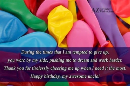 Amazing Birthday Greeting E-Card With Quotes p9 Uncle