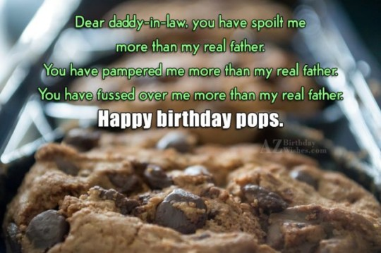 Amazing Father In Law Birthday Wishes Greeting E-Card 7s