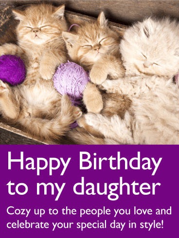 Amusing Birthday Image With Cute Wishes For Daughter