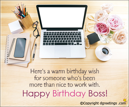 Astouding Birthday Wishes E-Card With Greetings For Boss