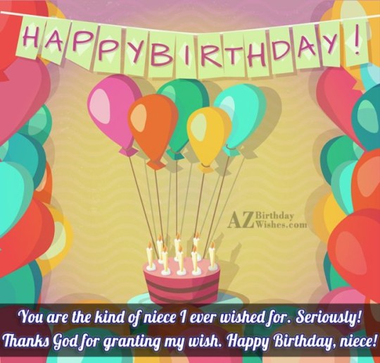 Balloons Birthday Wishes Birthday E-Card Greeting For Niece 121s