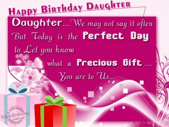 Be Smile Daughter Birthday Wishes With Greetings Message E-Card