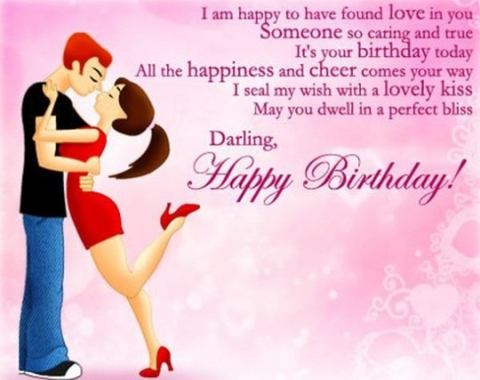Beautiful Love Couple Image With Greeting Message Of Love For A Boyfriend