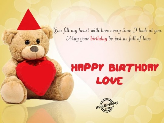 Beautiful Teddy Sayings Images For Birthday Wishes With Sayings E-Card For My Love 7S9sh