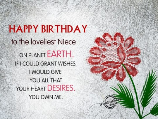 Beloved Birthday Wishes Birthday E-Card Greeting For Niece 121s
