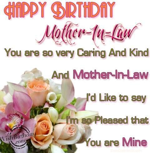 Adorable birthday greeting e card for best mother in law nicewishes best birthday wishes with flowers for my mother in law m4hsunfo