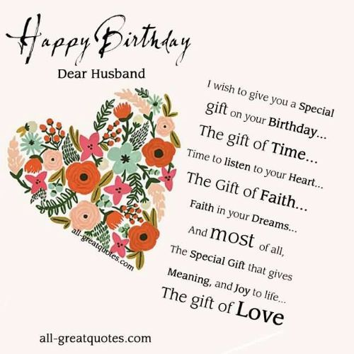 Happy Birthday Greeting Card With Incredible Love For My Husband