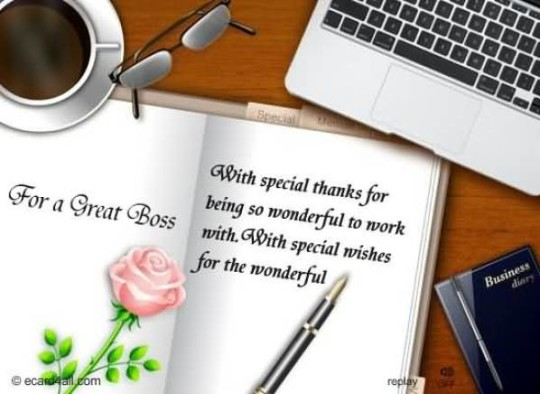 Best Ever Birthday Wishes E-Card With Greetings For Boss