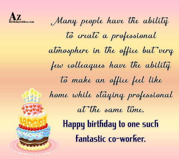 best ever birthday wishes e card for best coworker