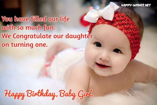 Brilliant Birthday Wishes for Baby Girl