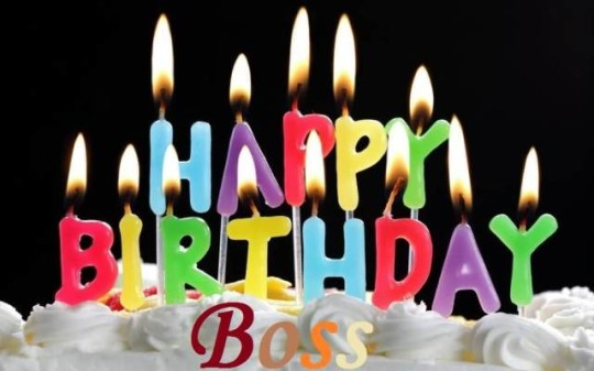 Candle Light Cake Images For Birthday Wishes With Sayings E-Card For My Boss E7