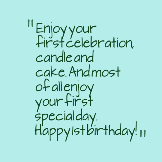 Celebrated 1st Birthday Wishes With E-Card 7s