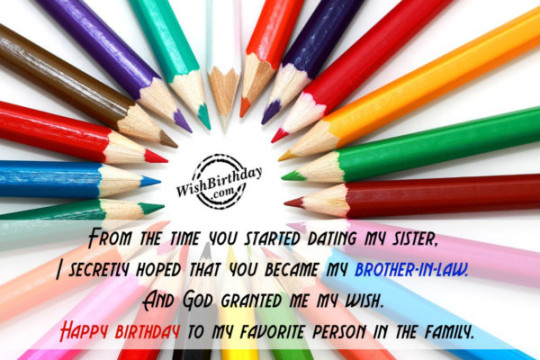 Classy Brother In Law Birthday Wishes E-Card