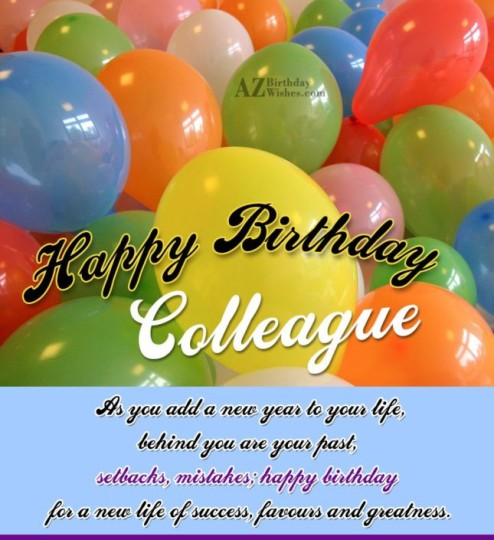 Colorful Birthday Wishes Greetings E-Card For Best Employee