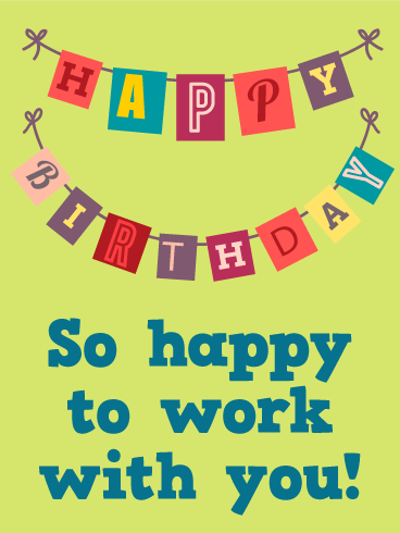 Coworker Birthday Card With Employee For You