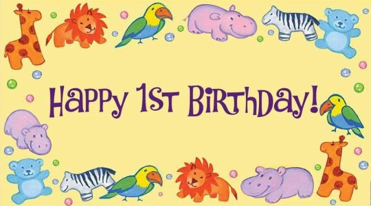 Creative 1st Birthday Wishes E-Card-s7