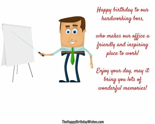 Creative Boss Birthday Sayings Images With Message