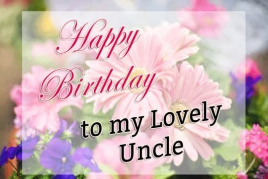 Creative Greeting E-Card With Blessings For Uncle Special Day