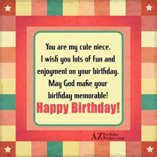 Credible Birthday Wishes Birthday E-Card Greeting For Niece 121s