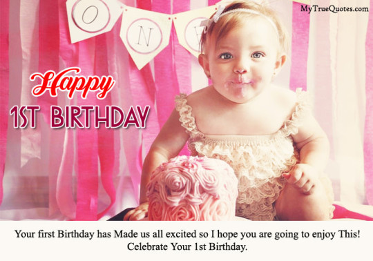 Cute 1st Birthday Wishes Image -7s