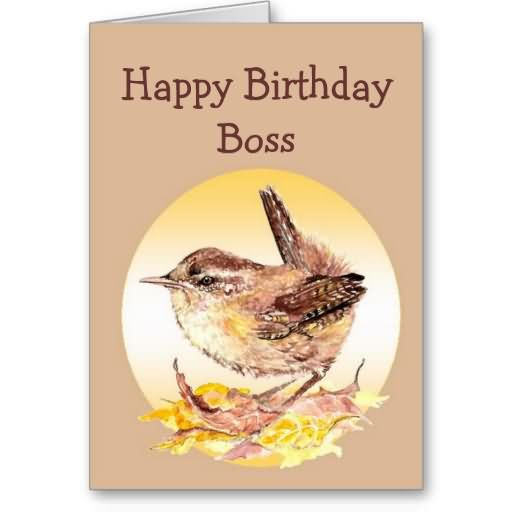 Cute Card For Birthday Wishes Of Boss