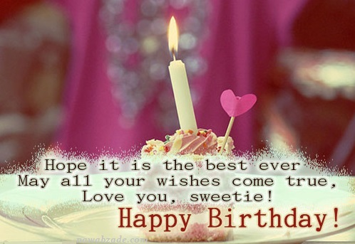 Cute Images For Birthday Wishes With Sayings E-Card For My Love 7S9sh