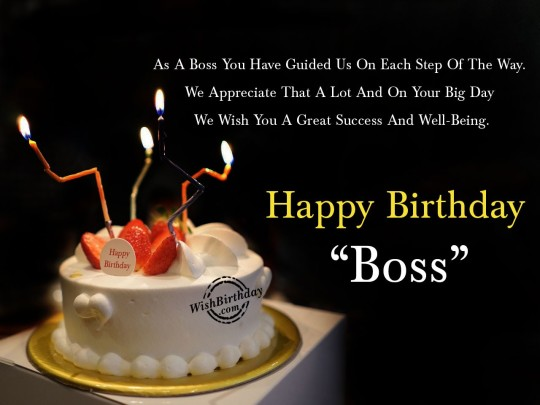 Delicious Birthday Wishes E-Card With Greetings For Boss