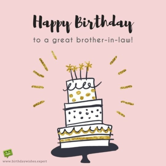 Delicious Brother In Law Birthday Wishes E-Card