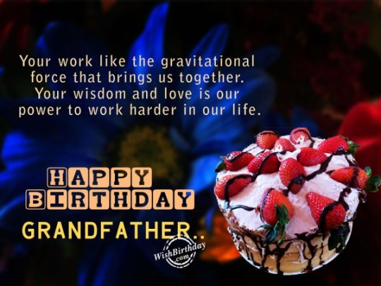 Delicious Fruity Cake With Love Message For Grandfather