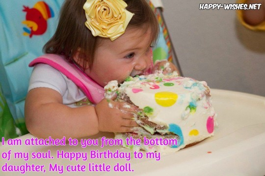Delightful Birthday Wishes With Cake And Quotes For baby girl